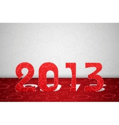 2013 year card vector image vector image