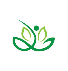 abstract leaf eco nature logo vector image vector image