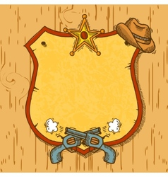 Cowboy sketch background vector image