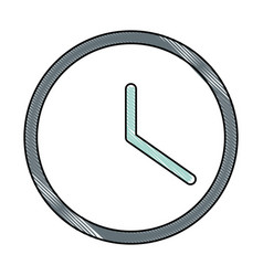wall watch time icon vector image
