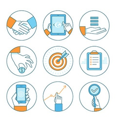 business concepts and icons vector image