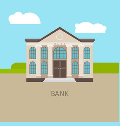 colored bank building vector image