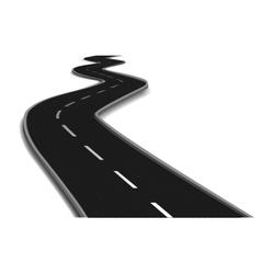 Curved road bridge vector image