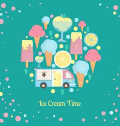 Ice cream bar in flat style vector
