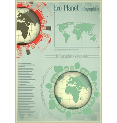 Infographics Planet Earth and Construction vector image