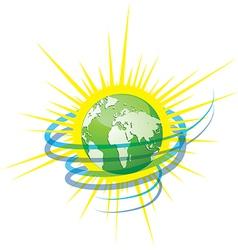 planet energy vector image