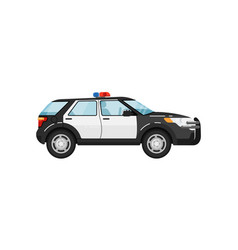 police suv car isolated vector image vector image