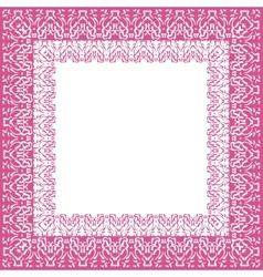 Tablecloth border pattern vector image vector image