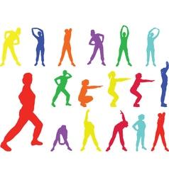 aerobics girl 6 - vector image vector image