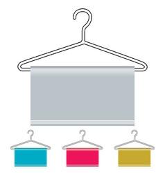 Coat hanger icon vector image