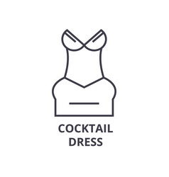 cocktail dress line icon outline sign linear vector image