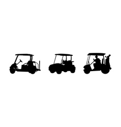 golf car Silhouettes vector image vector image