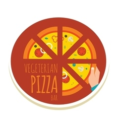 handmade pizza pizza icon for a vector image