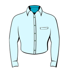 mens shirt icon cartoon vector image