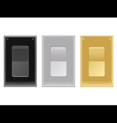 onoff switches vector image vector image