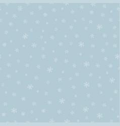 snowflkes seamless pattern hand drawn vector image vector image