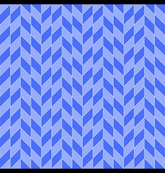 Square Rhombohedron Seamless Pattern Blue vector image vector image