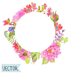 watercolor beautiful floral design vector image vector image