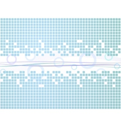 abstract blue cubes background vector image