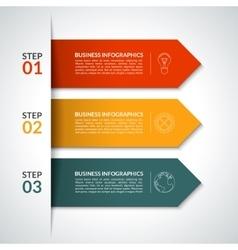 Arrow infographic design template vector image