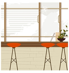 Cafe Bar Interior vector image