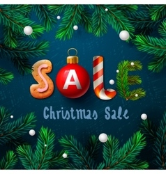 Christmas sale poster vector image vector image