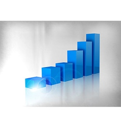 graph blue vector image vector image