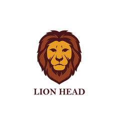 lion head logo design vector image