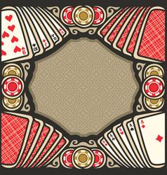 poster for poker vector image