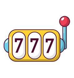 slot machine icon cartoon style vector image