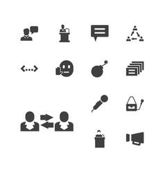 13 speech icons vector