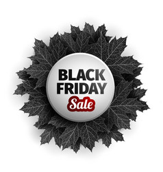 3d black friday sale tag design black realistic vector image