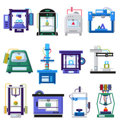 3d printers and layout rapid prototyping vector
