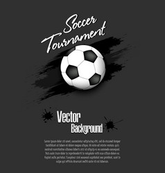 4568 - soccer tournament background vector image