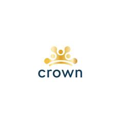 Abstract sun icon golden crown circles vector