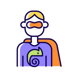 Adaptability rgb color icon vector