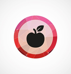 apple circle pink triangle background icon vector image