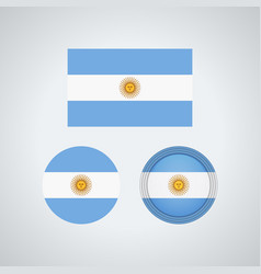 argentinian trio flags vector image