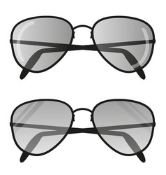 aviator sunglasses icon pilot glasses vector image