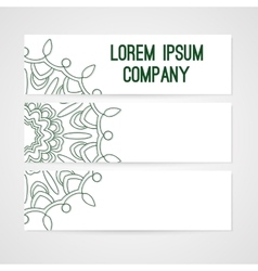 Banners with hand drawn ornament vector