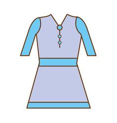 Beautiful short dress casual cloth vector