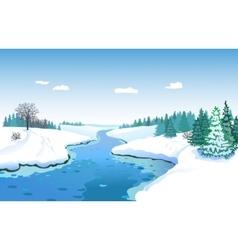 Beautiful Winter Landscape vector image