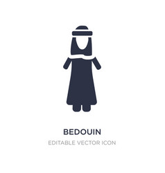 Bedouin icon on white background simple element vector