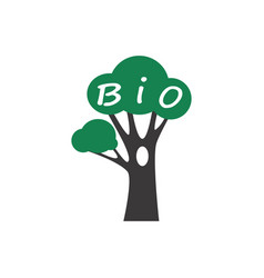 bio tree icon vector image