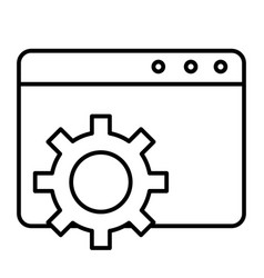 Browser settings thin line icon computer settings vector