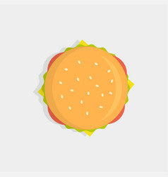Burger top view vector
