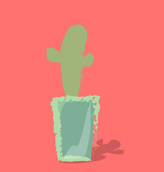 cactus in a pot on a background vector image