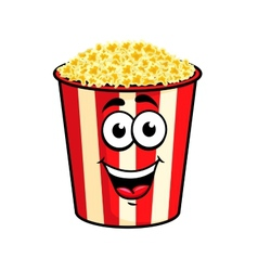 Cartoon popcorn character vector image