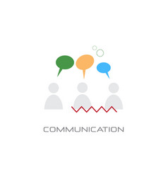 chat bubble speech communication social network vector image