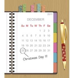 Christmas notebook vector